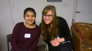 Emily Rittenhouse and a fellow participant from the interfaith dialogue.