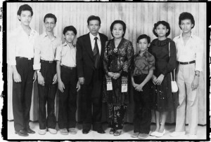 Aldo Siahaan and his family