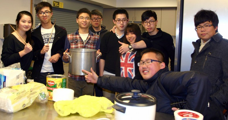 Souderton--Chinese students cooking