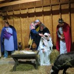 The live nativity at Towamencin congregation.  Photo by Cassie L. Allebach.
