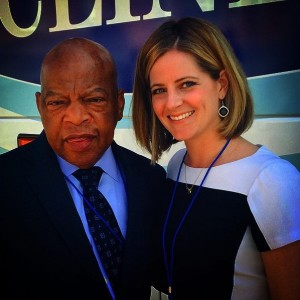Liza Heavener with Congressman John Lewis of Georgia