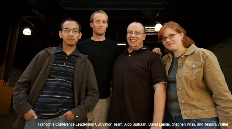 Franconia Conference Leadership Cultivation Team: Aldo Siahaan, David Landis, Stephen Kriss, and Jessica Walter