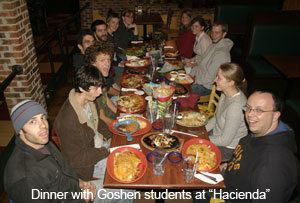 "Dinner with Goshen students at ""Hacienda"""